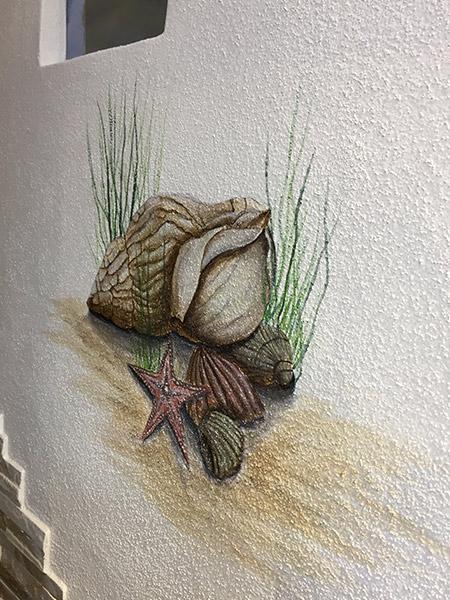 Wand Muscheln