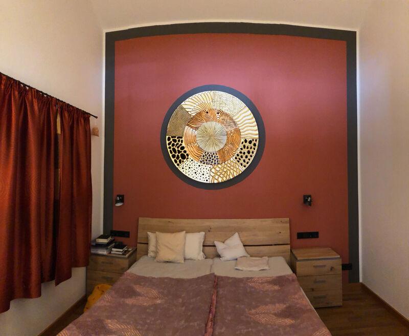 Schlafzimmer goldene Scheibe